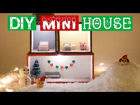 DIY MINI WINTER CHRISTMAS HOUSE!