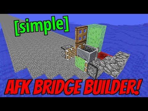 AFK Bridge Builder in Minecraft! (Flying Machine) [No Mods]