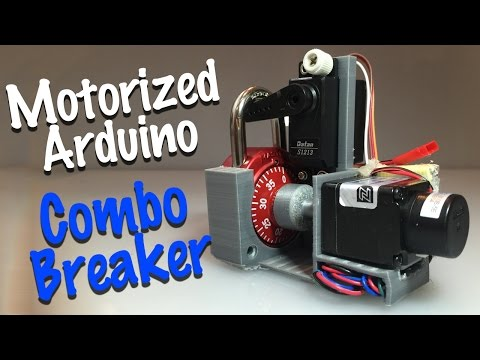 Combo Breaker - motorized combo lock cracking device