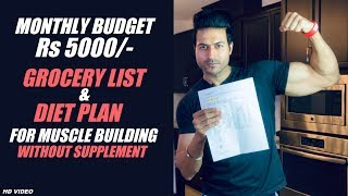 Monthy Budget of Rs 5000/- Grocery List with Diet Plan by Guru Mann