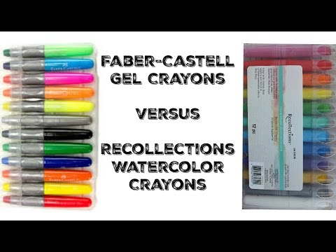 Faber-Castell Gel Crayons Vs. Watercolor Crayons