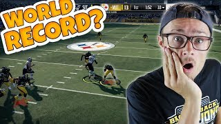 WHAT THE HECK!? DID WE BREAK THIS FIRST HALF WORLD RECORD?? Madden 18 Packed Out