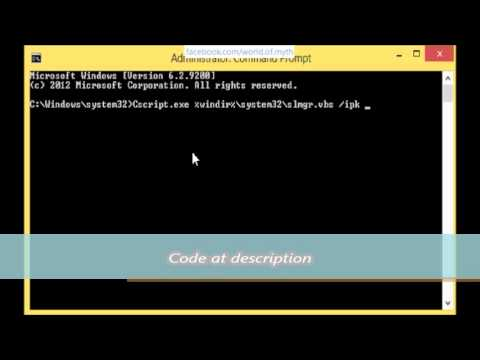 How to add or change product key in windows 8 using CMD