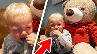 MOVING TEDDY BEAR PRANK ON 1 YEAR OLD KID!! *GONE WRONG*