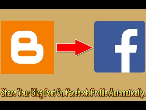 How to share blog post on facebook profile automatically?