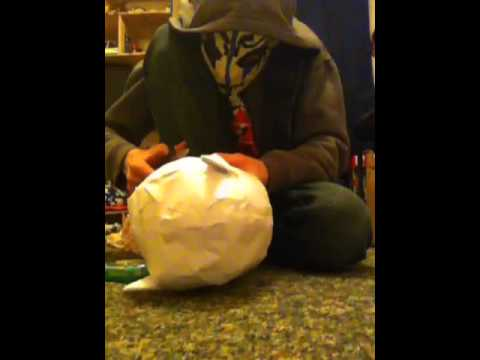 How to make a paper batman mask part 5
