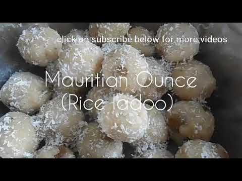 Rice Oundé (Mauritian Rice Laddoo)