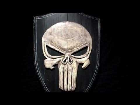 How to make a wood shield - Shogun-Jimi Skull Challenge 2017