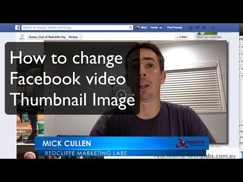 How to Select Facebook Video Thumbnail Image