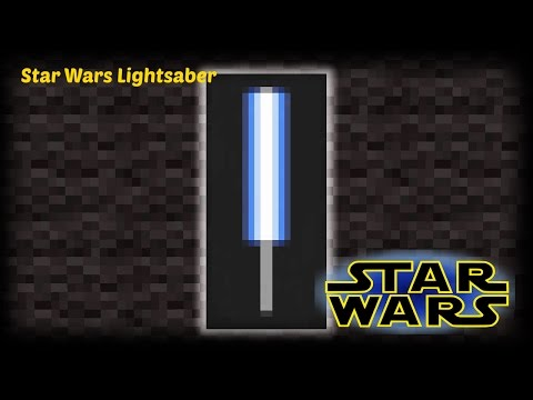 Minecraft - How to make a Star Wars Lightsaber banner