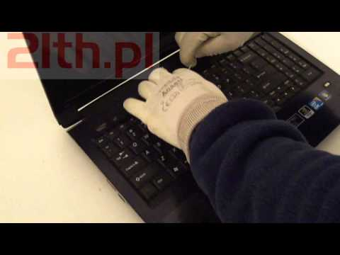 How to replace or remove keyboard in notebook Lenovo V560, keyboard replacement