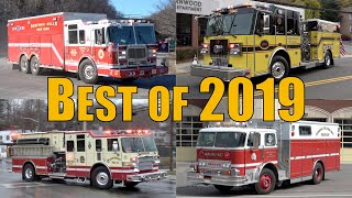 Best of 2019 Fire Trucks Responding Compilation