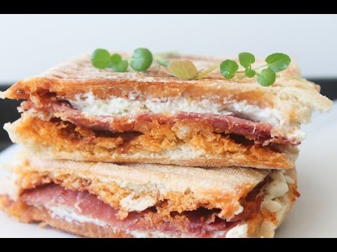 How To Make Feta Cheese, Serrano Ham And Red Pesto Panini - By One Kitchen Episode 440