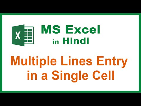 06. MS Excel in Hindi - Type Multiple lines in One Cell