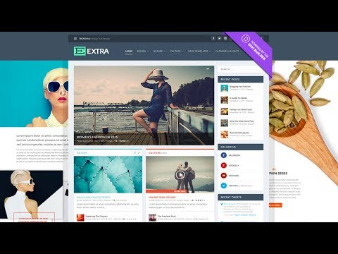 How to Create a Blog Website - WordPress Extra Theme Tutorial 2017