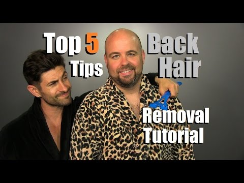 TOP 5 Back Hair Removal Tips | Ultimate Back Hair Removal Tutorial | How To ELIMINATE Back Hair #SP