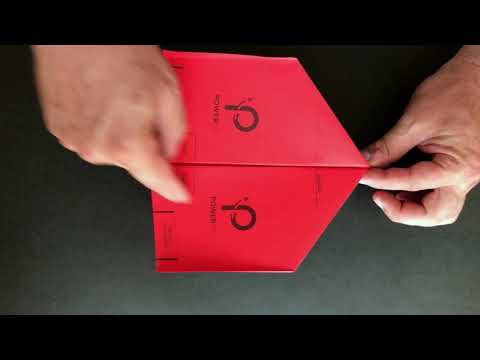 How to fold and adjust the Cardinal template for POWERUP 3.0 Smartphone Controlled Paper Airplane