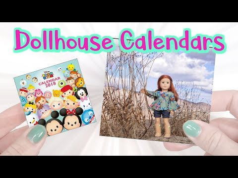 DIY American Girl Dollhouse Calendars