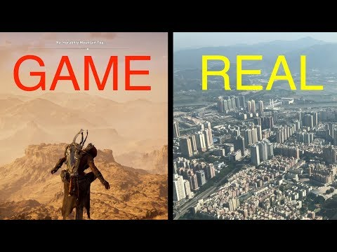 Game vs Real Life: Highest Place (Assassin's Creed Origins and Ping An Finance Centre)