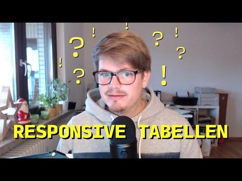 Responsive Tabellen nur mit CSS
