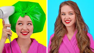 स्मार्ट और आसान  हैक्स लड़कियों के लिए।। 123 GO! के मज़ेदार बालों और मेकअप के आईडिया लड़कियों के लिए!