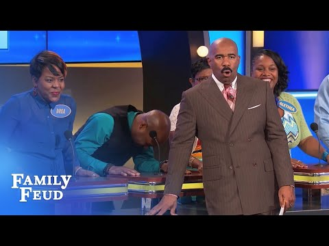 Inflatable doll? Tony gets to the bottom of it | Family Feud
