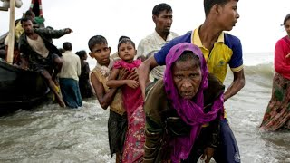 Rohingya refugees pour into Bangladesh after fleeing violence in Myanmar