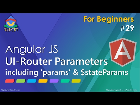 AngularJS UI-Router Tutorial - Working with Parameters