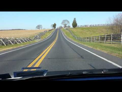Driving through Gettysburg Pennsylvania