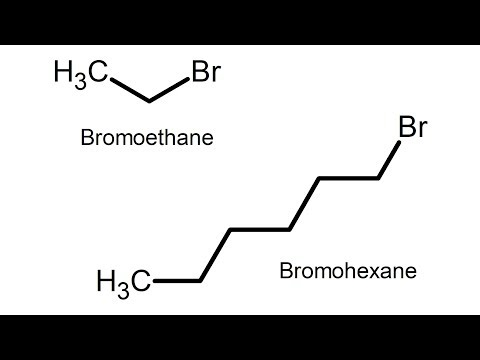 Make Alkyl Halides Bromoethane and Bromohexane