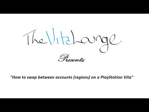 How to swap between accounts (regions) on a PlayStation Vita