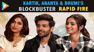 Kartik, Ananya & Bhumi's MADDEST & CRAZIEST Rapid Fire Ever | Pati Patni Aur Woh