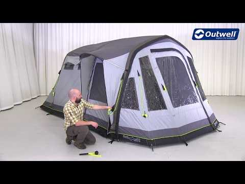 How to pitch an Air Tent - Outwell Nighthawk 4 Demo