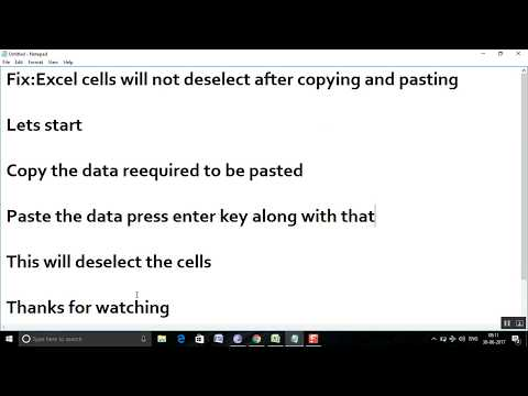 Fix:Excel cells will not deselect after copying and pasting