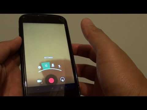 Google Nexus 4: How to Change Camera Video Quality Resolution Size