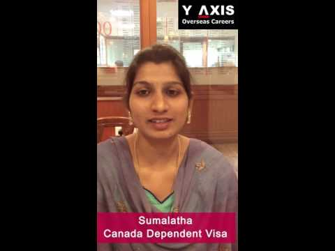 Y-Axis Feedback| Sumalatha Client Testimonial On Her Canada Dependent Visa Processing