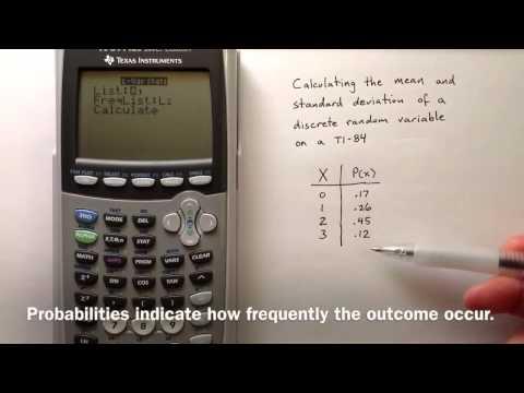 Discrete Random Variables on TI84