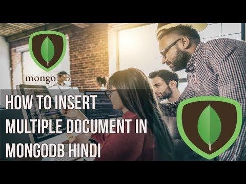 Learn mongodb in Hindi | How to insert multiple document in mongodb Hindi