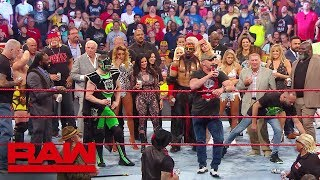 """Stone Cold"", Hulk Hogan and Ric Flair lead A Toast to Monday Night Raw: Raw Reunion, July 22, 2019"