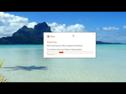 How To Repair Microsoft Office Installation Suite