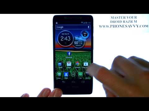 Motorola Droid Razr M - HowTo Create Folders - Add Home Screens - Move Apps - Customize.AVI