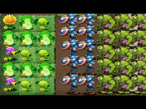 Plants vs Zombies Mod Captain America Civil War