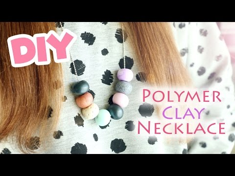 DIY Easy Bead Necklace│Polymer Clay FIMO Tutorial