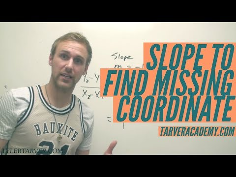 Slope Formula to find Missing Coordinate Cashhhh // TARVER ACADEMY MATH