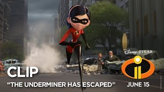 "Incredibles 2 Clip - ""The Underminer Has Escaped"""