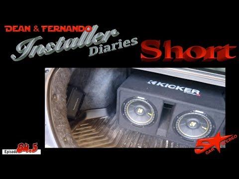 Just a quick Honda Civic amp install.  Install Diaries Short 84.5