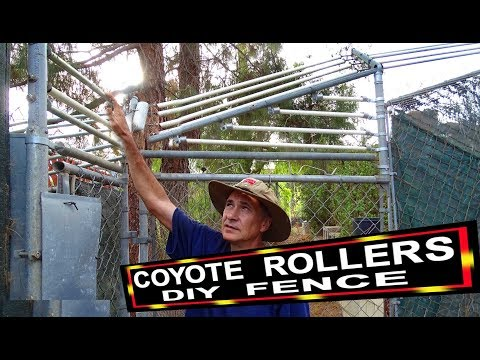 Coyote Roll Bar Fencing Rollers Cheap -Keep Your Pets & Chickens Safe