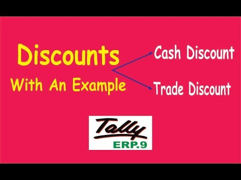 Trade Discount Vs Cash Discount (With An Example)  Accounting Treatment in Tally ERP.9