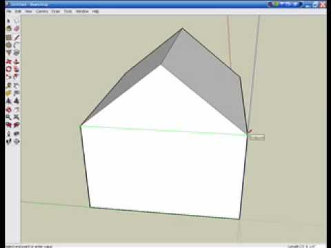 How to make a simple house in Google Sketchup