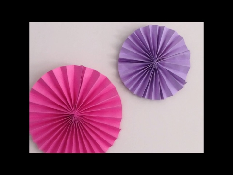 DIY paper rosette | birthday decorations with paper |kids crafts | paper crafts | decor crafts